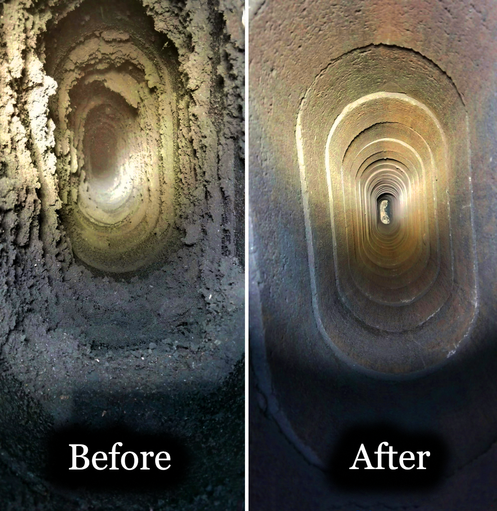 Dirty Chimney before and after